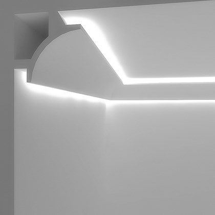 Eleni Lighting EL706 Curved Dual LED Linear Profile Cornice
