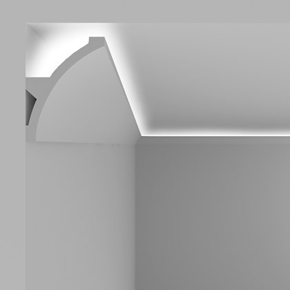 Eleni Lighting EL708 Large Curved LED Linear Profile Cornice