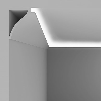 Eleni Lighting EL802 Large Curved LED Linear Profile Cornice