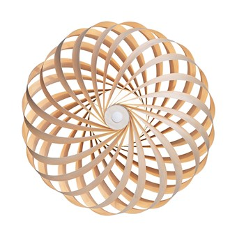 Tom Rossau TR5 Wall Light in natural birch, face on view with white background