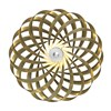 Tom Rossau TR5 Wall Light in aluminium finished in gold, on a white background