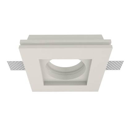 Nama Fos 01 Square Plaster In Downlight frame only on white background