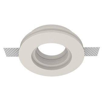 Nama Fos 02 Round Plaster In Downlight frame only on white background