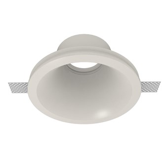 Nama Fos 03 Round Plaster In Downlight frame only on white background