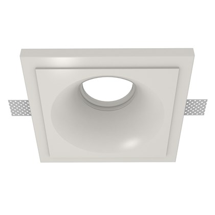 Nama Fos 04 Round Plaster In Downlight frame only on white background