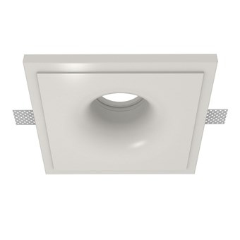 Nama Fos 05 Round Plaster In Downlight frame only on white background