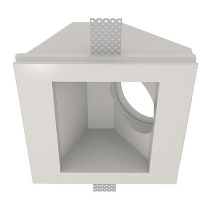 Nama Fos 06 Square Plaster In Wall Washer Downlight frame only on white background