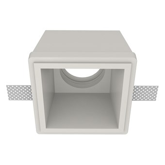 Nama Fos 07 Square Plaster In Downlight frame only on white background