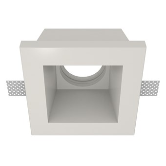 Nama Fos 08 Square Plaster In Downlight frame only on white background