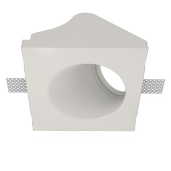 Nama Fos 10 Round Plaster In Wall Washer Downlight frame only on white background