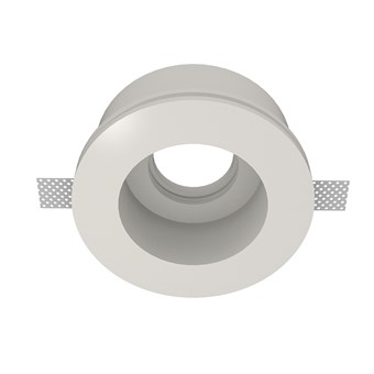Nama Fos 12 Round Plaster In Downlight frame only on white background