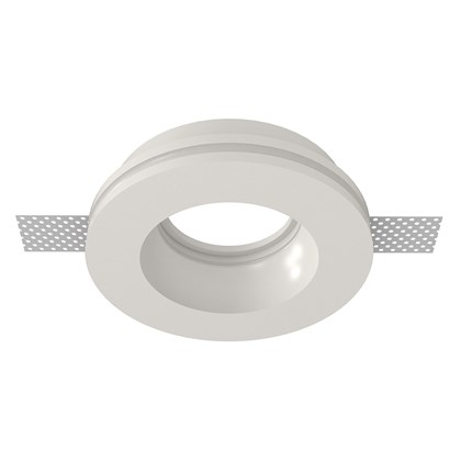 Nama Fos 16 Round Plaster In Downlight frame only on white background