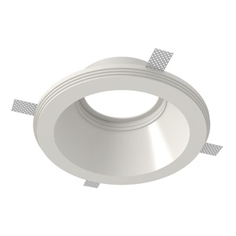 Nama Fos 17 Round Plaster In Downlight frame only on white background