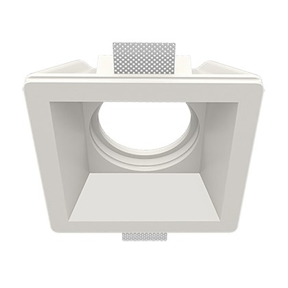 Nama Fos 18 Square Plaster In Downlight frame only on white background