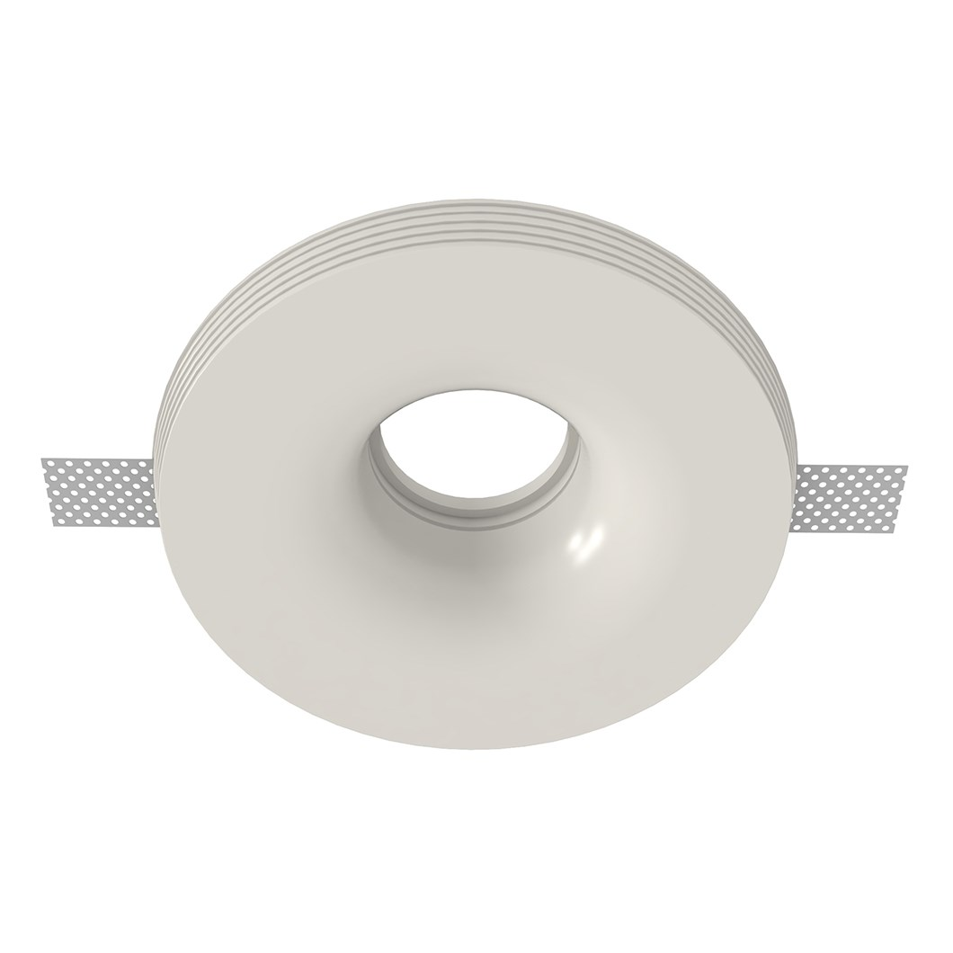 Nama Fos 19 Round Plaster In Downlight frame only on white background