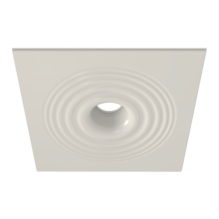 Nama Fos 20 Round Ripple Effect Plaster In Downlight frame only on white background