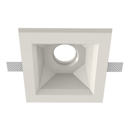 Nama Fos 21 Square Plaster In Downlight frame only on white background