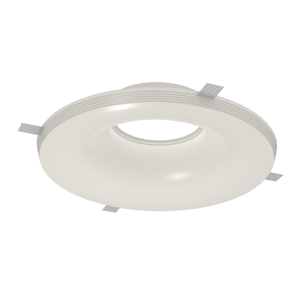 Nama Fos 22 Round Plaster In Downlight frame only on white background