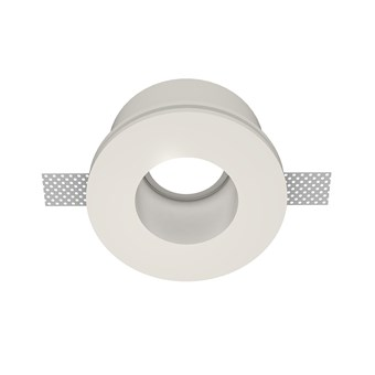 Nama Fos 23 Round Plaster In Downlight frame only on white background