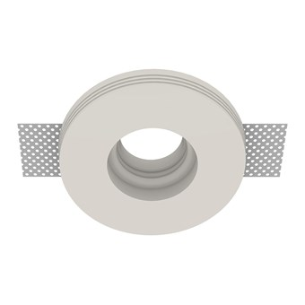 Nama Fos 24 Round Plaster In Downlight frame only on white background