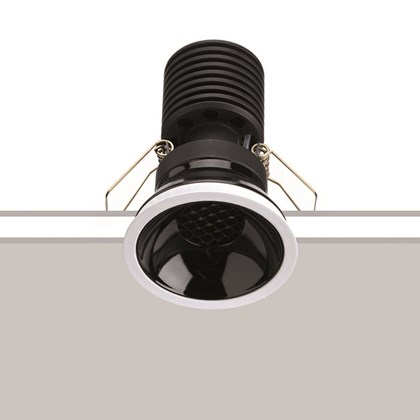 The Flexalighting Black 10 LED Recessed Downlight image of fitting with installation lines