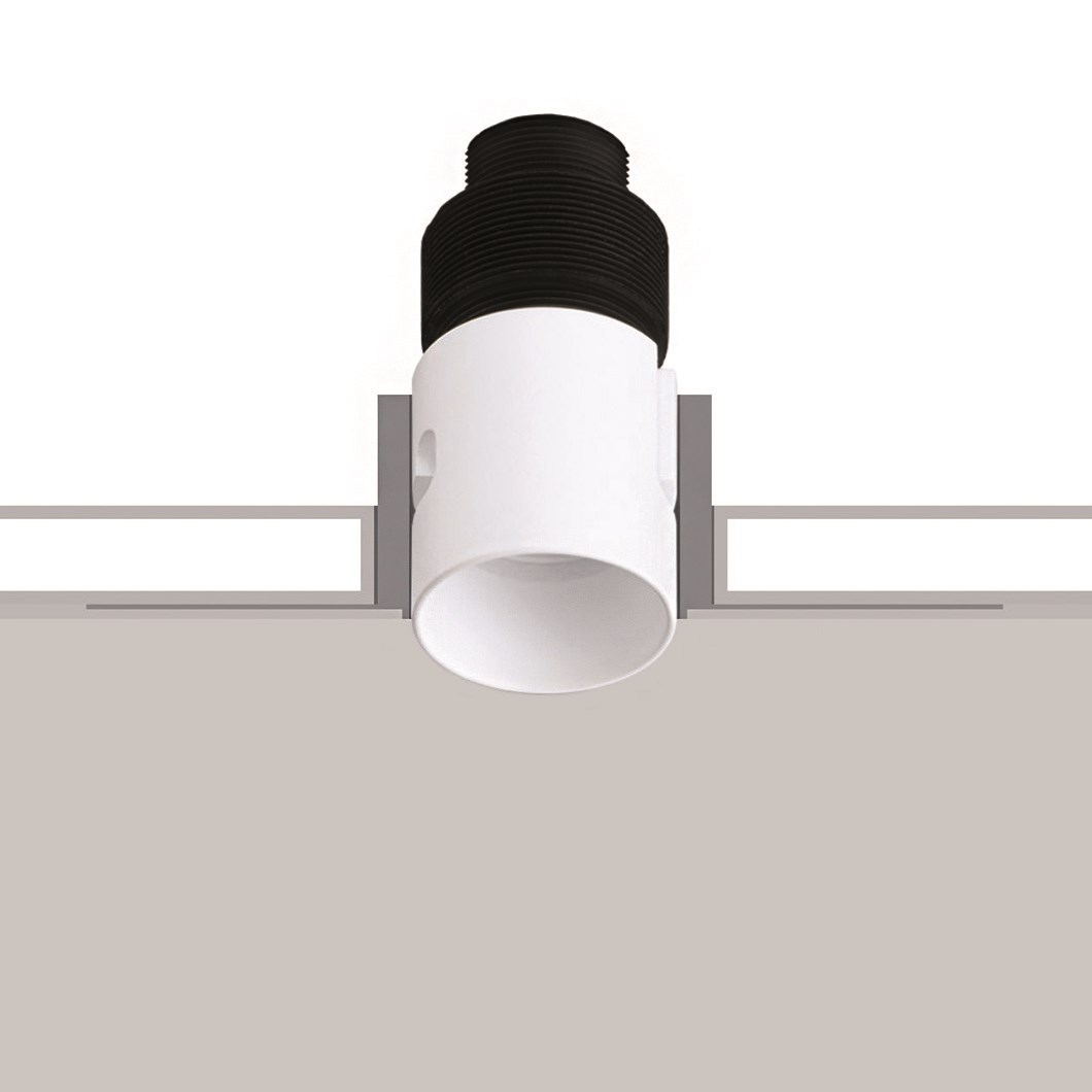 Flexalighting None R2 trimless downlight over a white and grey background.