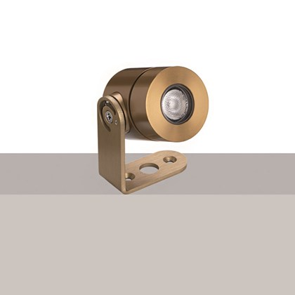 Flexalighting's Olu 2 spot light in a gold finish.