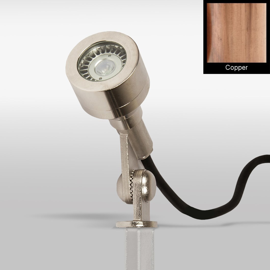 CLEARANCE X-Terior Dune Mini LED 12V Dimmable Spike/Surface Spot Light: Copper, 2700K, 30d Beam| Image : 1