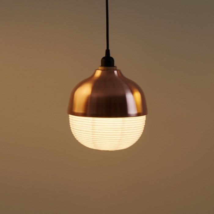 CLEARANCE Kimu Design The New Old Light Medium Copper Pendant| Image : 1