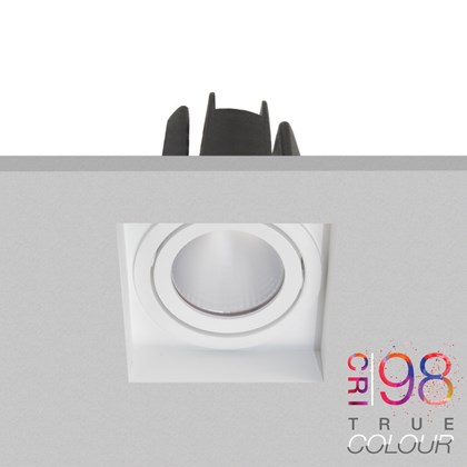 DLD Eiger 1-S True Colour CRI98 LED Adjustable Plaster In Downlight