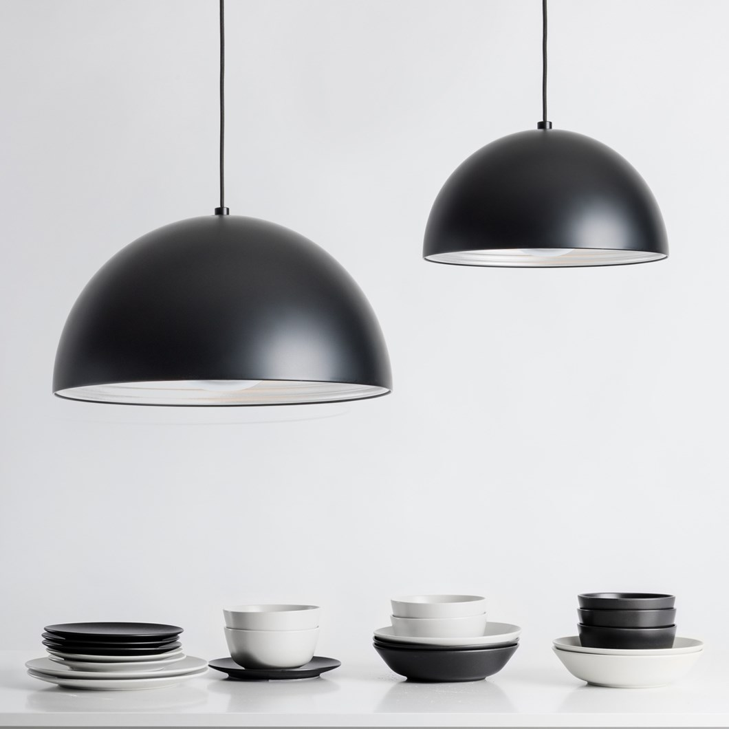 Seed Design Dome Matt Black Pendant - Next Day Delivery| Image : 1