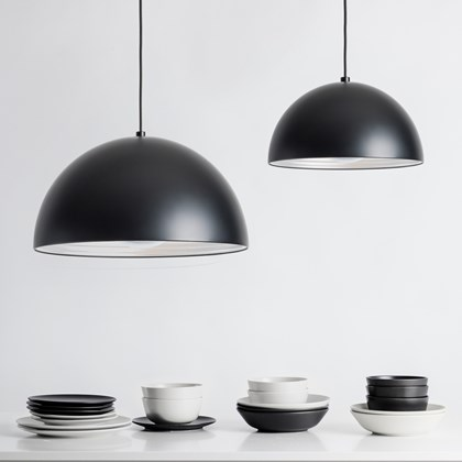 Seed Design Dome Matt Black Pendant - Next Day Delivery