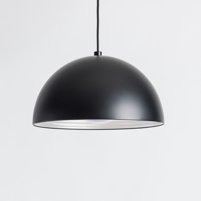 Seed Design Dome Matt Black Pendant - Next Day Delivery| Image:1