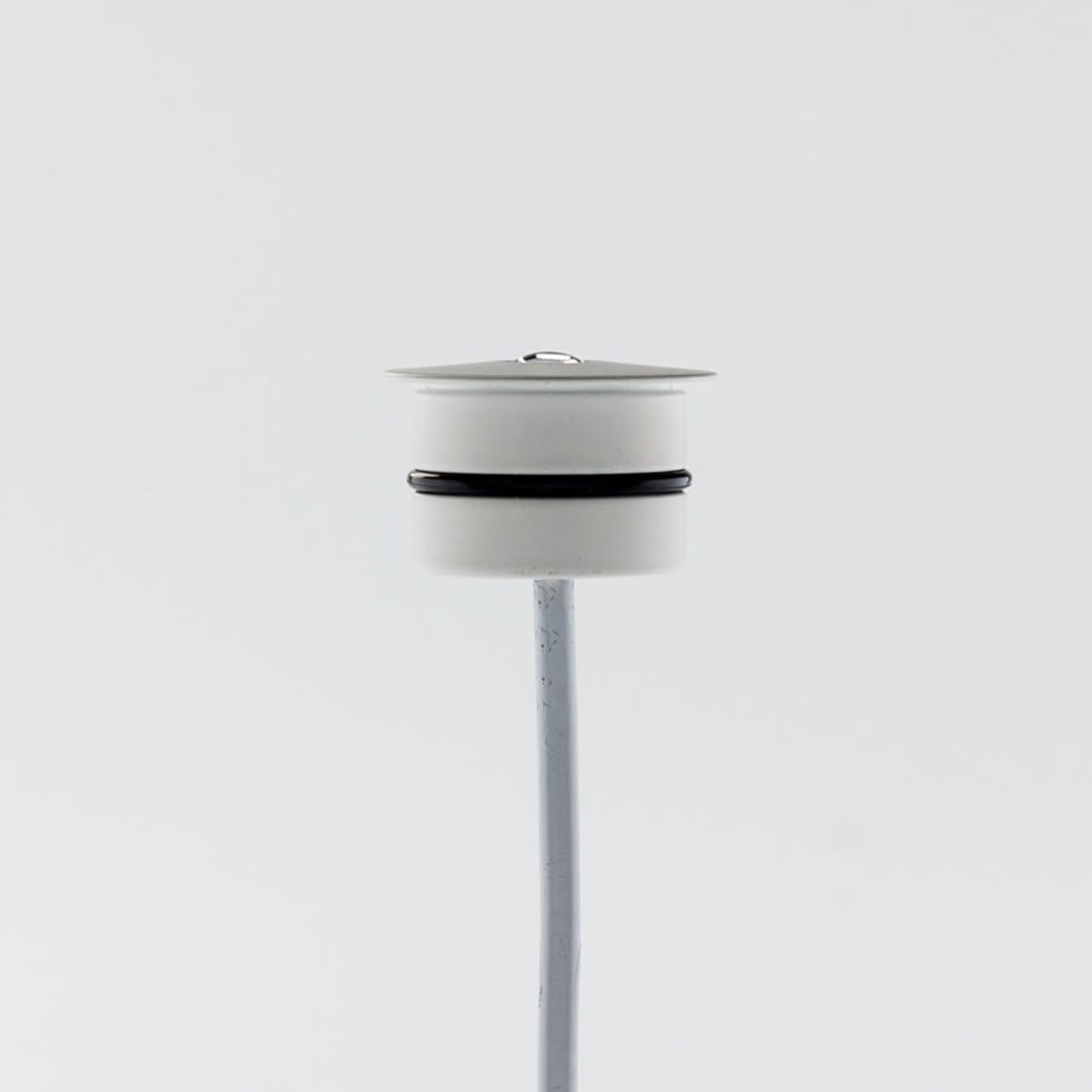 Side profile of the LLD Iride niche light fitting.