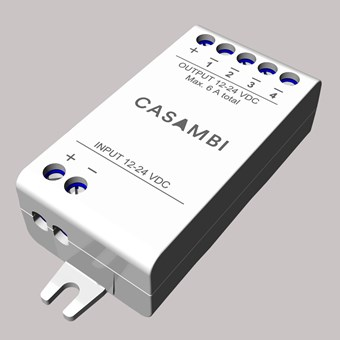 The Casambi CBU-PWM4 dimming unit.