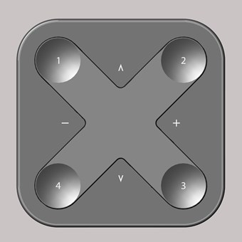 Casambi X-Press Compact Bluetooth Dimming Wireless Wall Switch