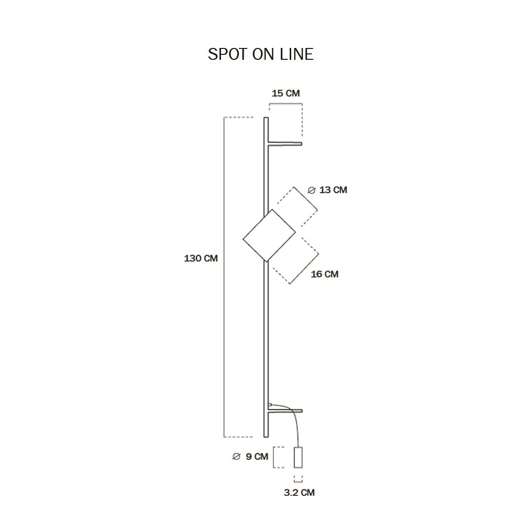 Asaf Weinbroom Spot On Line Wall Light | Image:1