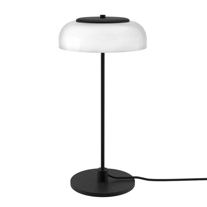 The Nuura Blossi Table Lamp in a black finish, turned off.