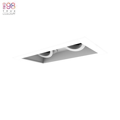 2 Led Recessed Adjustable down light with a white background