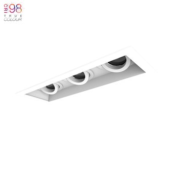 3 Led downlight, adjustable led recessed down lighter for any ceiling, finished in white