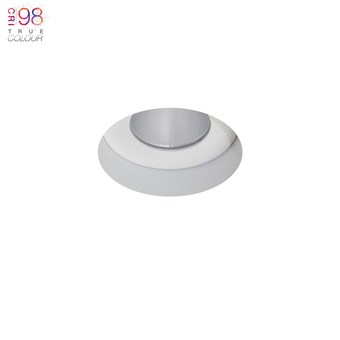 Recessed ceiling light, plaster in