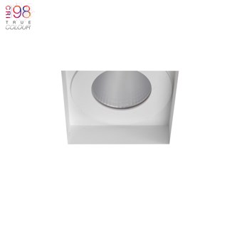 Square recessed spot light for mounting in ceiling, super bright warm led