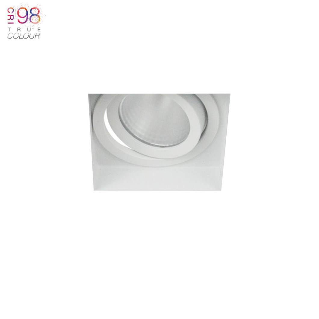 Adjustable light with plaster in fixing, great for ceiling mounting in the home