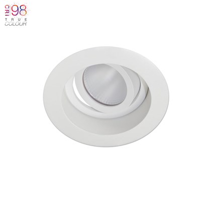 Adjustable ceiling light, white finish, bright warm led