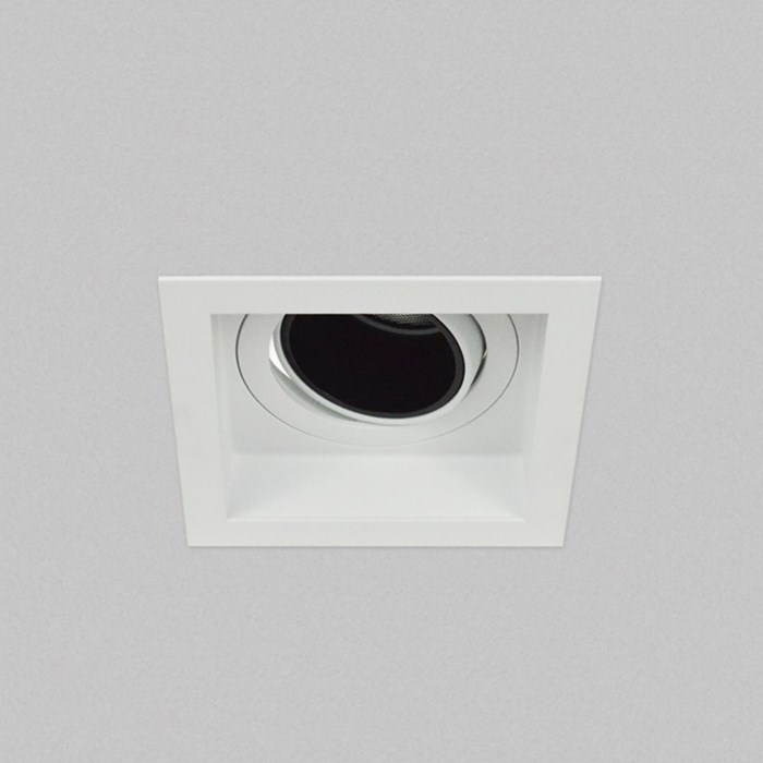 Warm bright Led, ceiling mounted andes square downlighter
