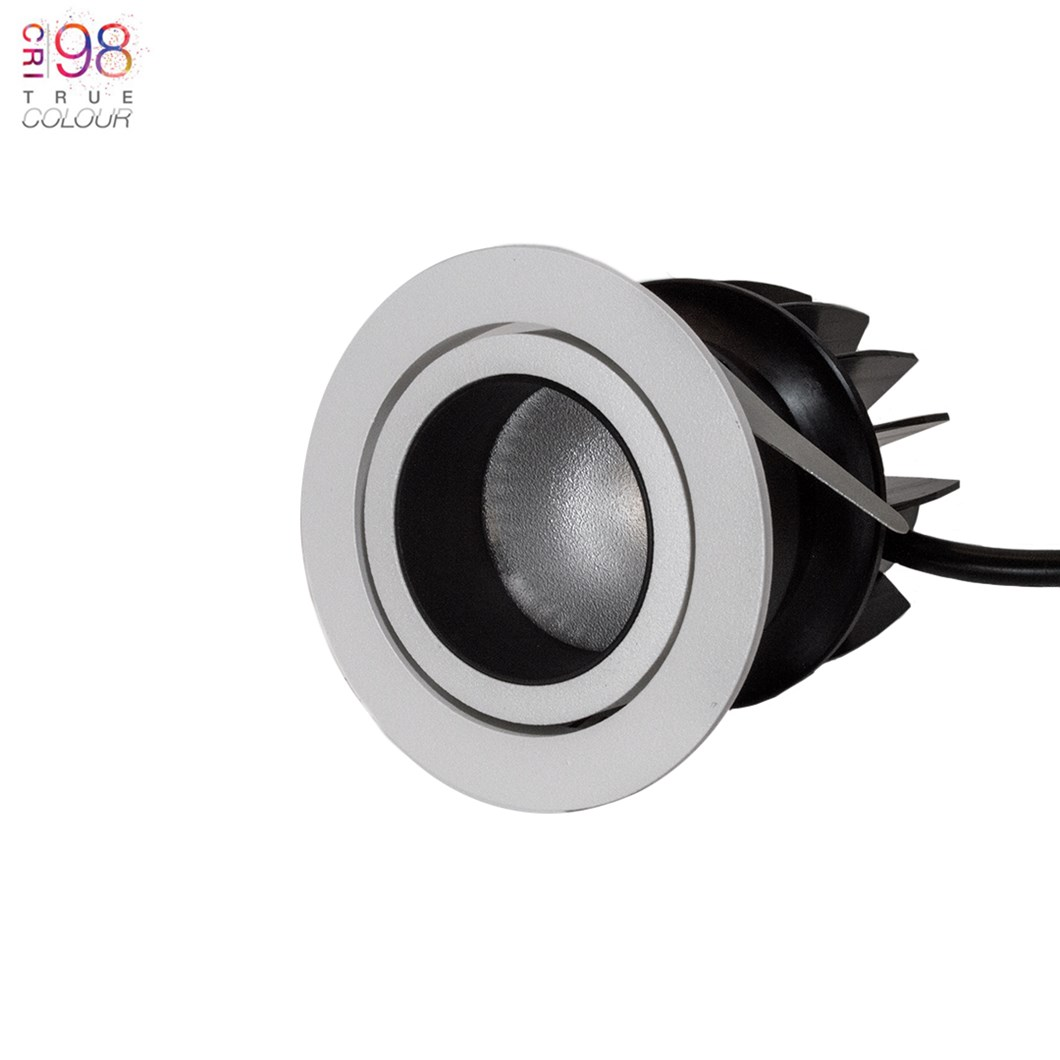 DLD Atlas Baffle True Colour CRI98 LED IP44 Adjustable Recessed Downlight - Next Day Delivery| Image:1