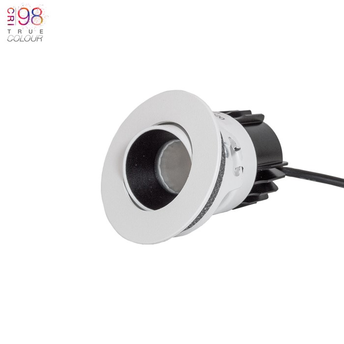 DLD Atlas Mini True Colour CRI98 LED IP65 Adjustable Recessed Downlight - Next Day Delivery| Image:1