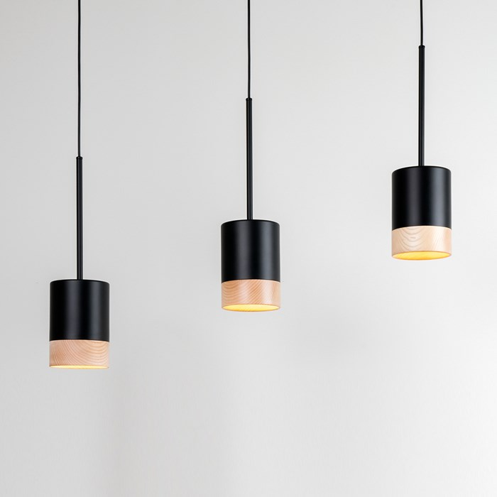 triple hanging pendant light by Milan illumination