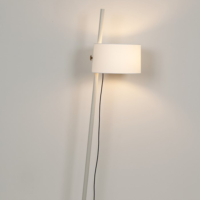 mink finished linood lamp by Milan Iluminacion with one shade