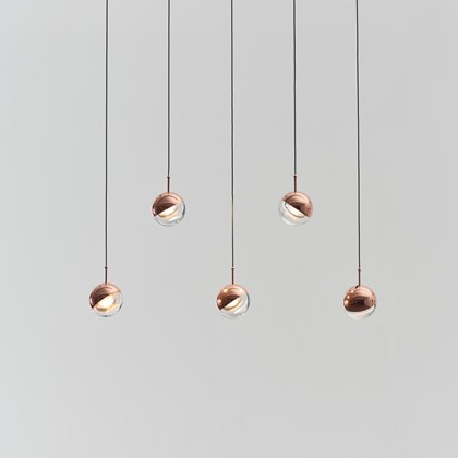 Seed Design Dora PL5 LED Copper Pendant - Next Day Delivery